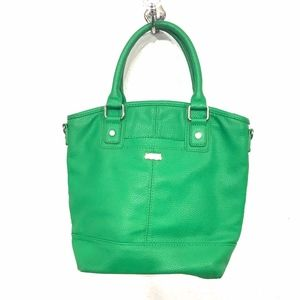 Jewell by thirty-one Green Pebbled Purse Hand Bag